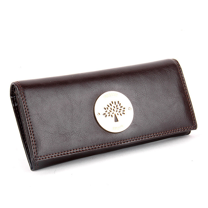 European And American Style Retro Women Wallets Oil Wax Leather Bag S Purse Female Tree Logo Fashion Wallet In From Luggage Bags On