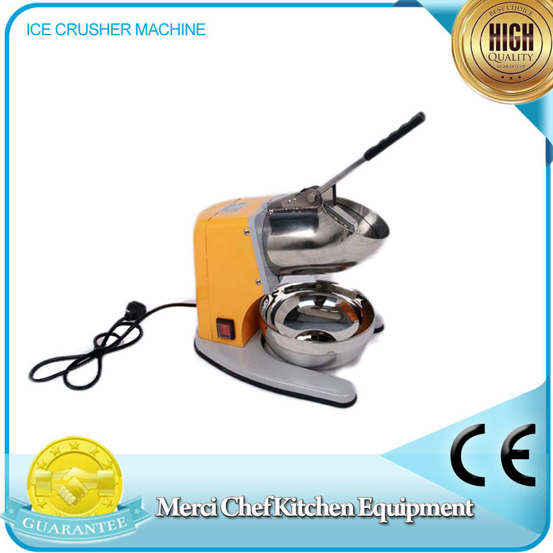 Food Machine Snow Cone Maker with CE Stainless Steel Electric Ice Shaver Manual Ice Crusher Machine  Household fast food leisure fast food equipment stainless steel gas fryer 3l spanish churro maker machine