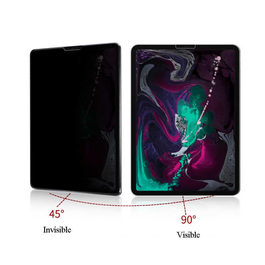 واقي للشاشة من الزجاج المقسى مضاد للتجسس لجهاز iPad Pro 11 12.9 2018 زجاج حافظ للخصوصية باللون الأسود لهاتف iPad Pro 10.5 Air 3 2019