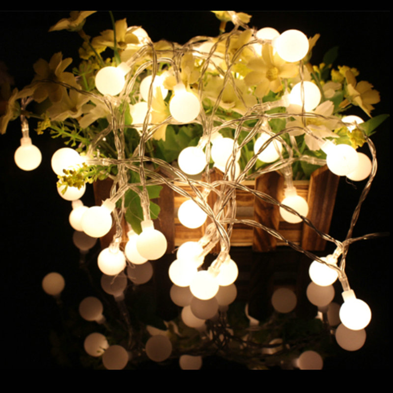 4m Christmas Lights Outdoor Led String Battery Operated Globe Fairy Christmas Lights Balls Indoor Tree Party Wedding Decoration
