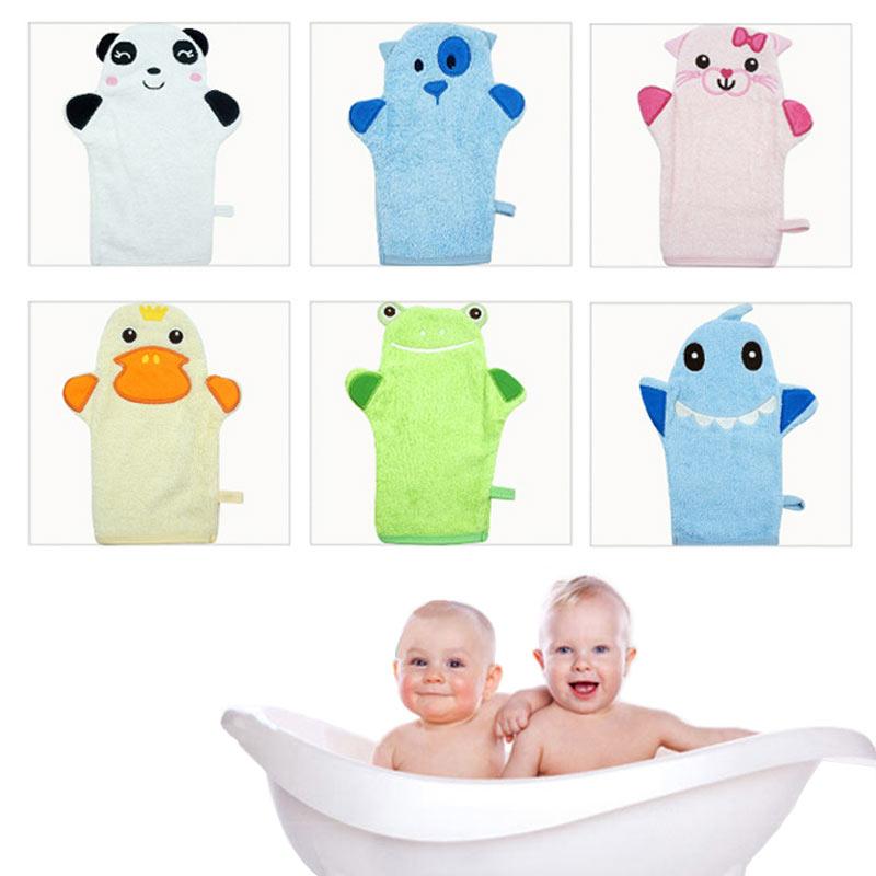 Children's Glove For Baby Bath Cute Animal Shape Cotton Bath Brush Baby Cartoon Bath Gloves Of Children Accessories 6 Sytles