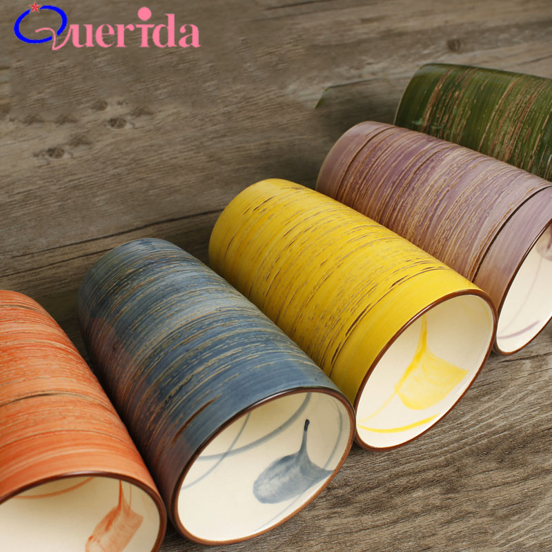 5 PC/ENSEMBLE Japonais Style Marque En Céramique Tasse Ensemble Coréenne Simple Tasse peinte à la main À La Main Couleur Creative Café Tasse Voyage tasse