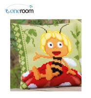 5thOneroom CX0809 Bee 02 Acrylic Yarn Embroidery Pillow Tapestry  Cushion Front Cross Stitch Pillowcase DIY needlework
