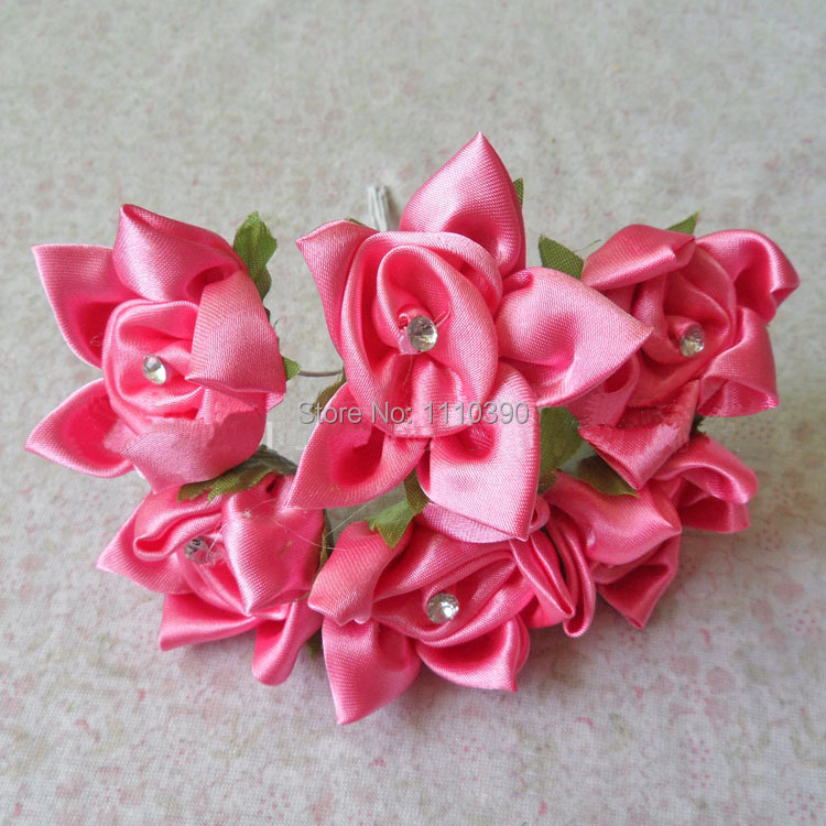 Diy Craft Artificial Flowers Real Touch Roses Silk Flowers With