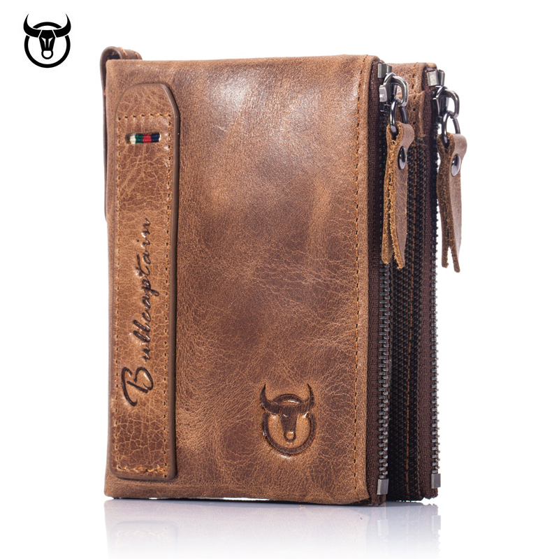 Brand HOT Genuine Crazy Horse Cowhide Leather Men Wallet Short Coin Purse Small Vintage Wallets New High Quality Designer 2017 new men wallets contact s genuine crazy horse cowhide leather short purses for brand men casual card holder designer wallet page 8