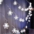 2016 Venda Quente 220 V 4 M luzes De Natal do floco de neve do feriado lâmpada 20LED lightingwedding decoração do partido cortina luzes da corda