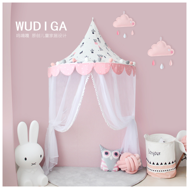 Child baby Cotton reading corner and a half canopy tent crib tent Play House Children's corner bed nets mantle baby bed curtain kamimi children room decoration crib netting baby tent cotton hung dome baby mosquito net photography props