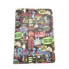 Novelty Cartoon Passport Holder Travel ID Card Holders Anime Movies Rick and Morty Cute Passport Cover for Kids Students Gifts(China)