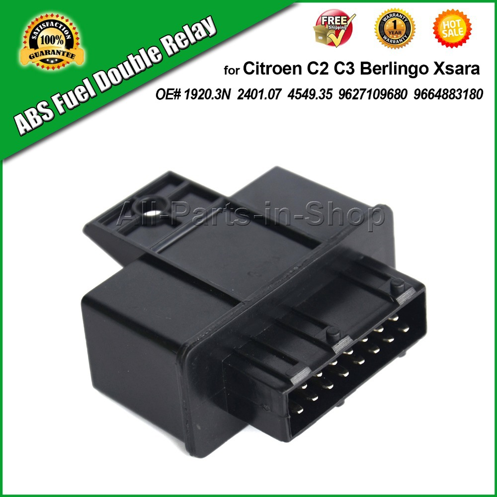 medium resolution of abs fuel double relay for citroen c2 c3 c4 berling xsara oe 19203n 240107