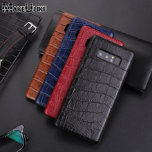 hot deal buy genuine leather back case for samsung galaxy note 8 cover luxury alligator phone bags cases for samsung note 8 note8 back case