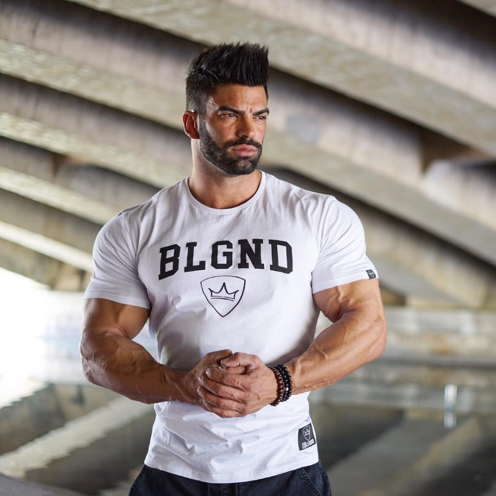 BeLegend novos homens de algodão camisa de manga Curta t camisas de Fitness musculação Crossfit masculino Marca tee tops t-shirt Da Forma dos homens S-XXL