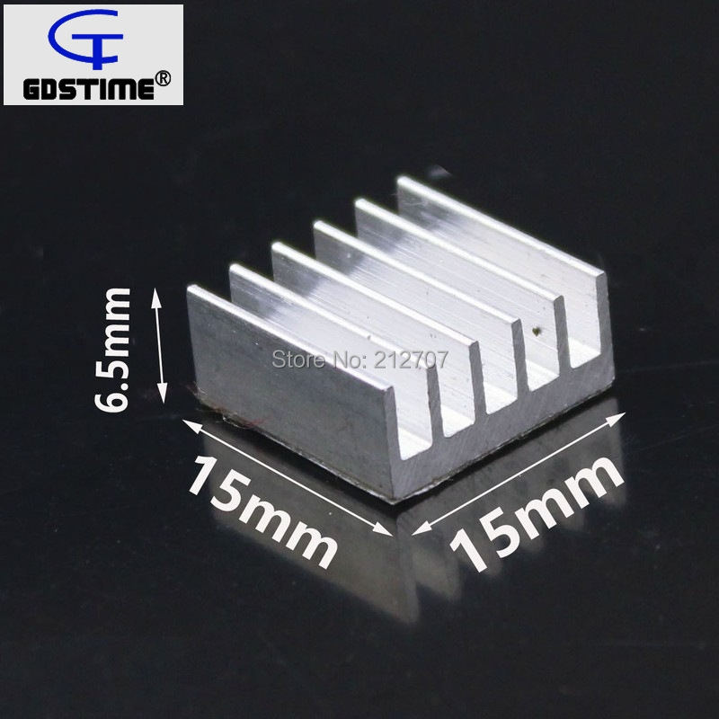 60PCS Gdstime 15x15x6.5mm Aluminum Cooling Chipset Heat Sink RAM Radiator Heatsink Cooler