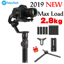 2018 новые FeiyuTech feiyu AK2000 3-осевой и портативный монопод с шарнирным замком Ручной Стабилизатор для Nikon Sony Canon DSLR Камера Gopro Экшн камеры 2,8 кг грузоподъемность
