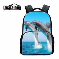 Dispalang Dolphin Animal Travel Backpacks For Women Cute Felt Primary Student Large Schoolbags Kids Luxury Bookbags