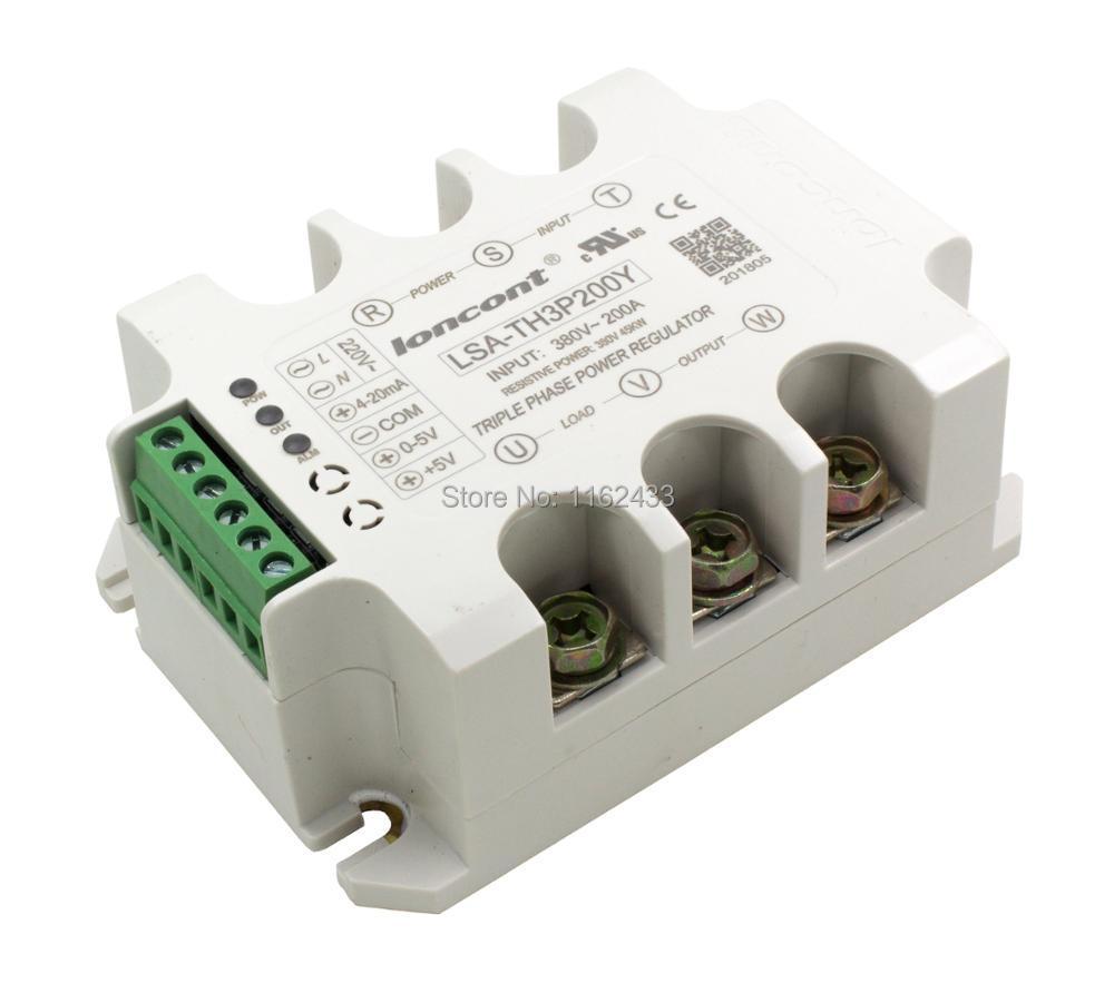 LSA-TH3P200Y Three Phase AC 200A 380V Solid State Voltage Regulator / Power Regulator Module
