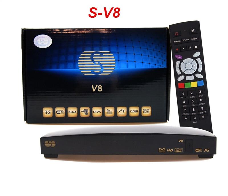 ФОТО Genuine V8 HD Satellite Receiver S-V8 support 2xUSB Port USB Wifi WEB TV Cccamd Newcamd YouPorn Weather Forecast V8
