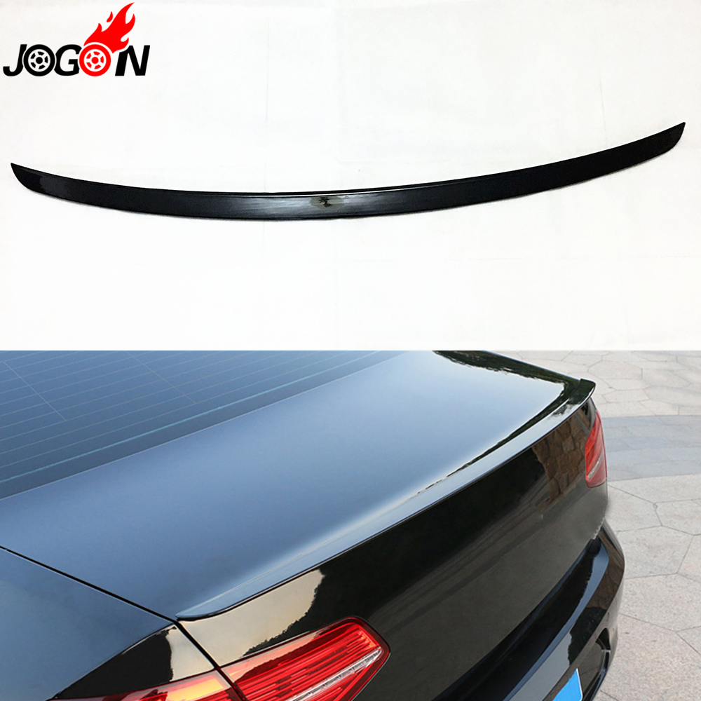 Black For VW Volkswagen Passat B8 Sedan 2016 2017 Car Trunk Lip Rear Aero Spoiler Wing Trim car rear trunk security shield cargo cover for volkswagen vw tiguan 2016 2017 2018 high qualit black beige auto accessories