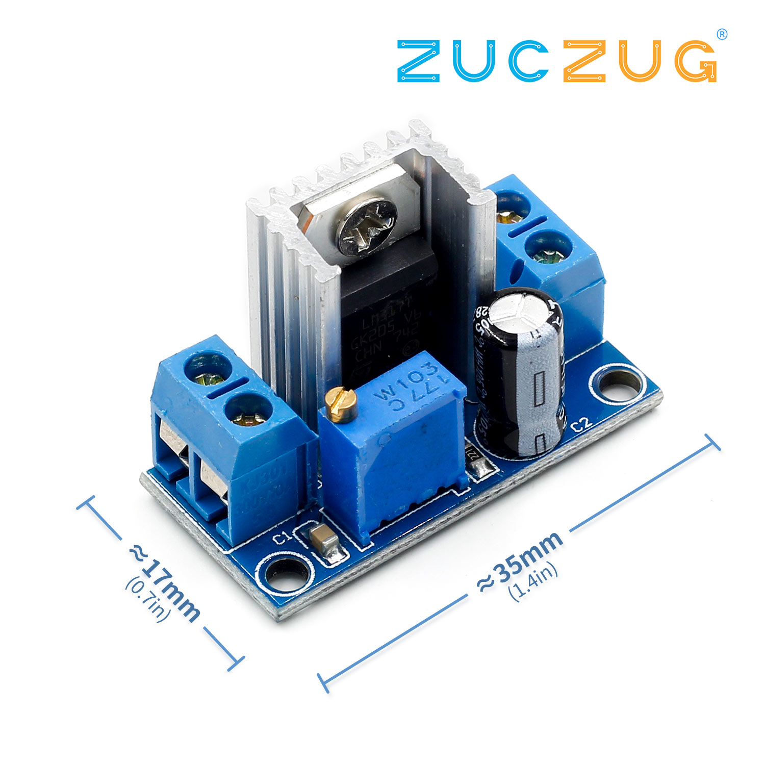 LM317 Adjustable Voltage Linear Regulator Power Supply LM317 DC-DC 4.2-40V To 1.2-37V Step Down Buck Converter Board Module