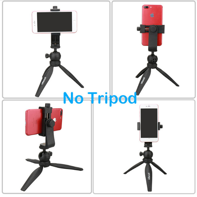 Ulanzi Universal Tripod Mount Adapter Cell Phone Clipper Holder Vertical 360 Rotation Tripod Stand for iPhone X 8 plus Samsung
