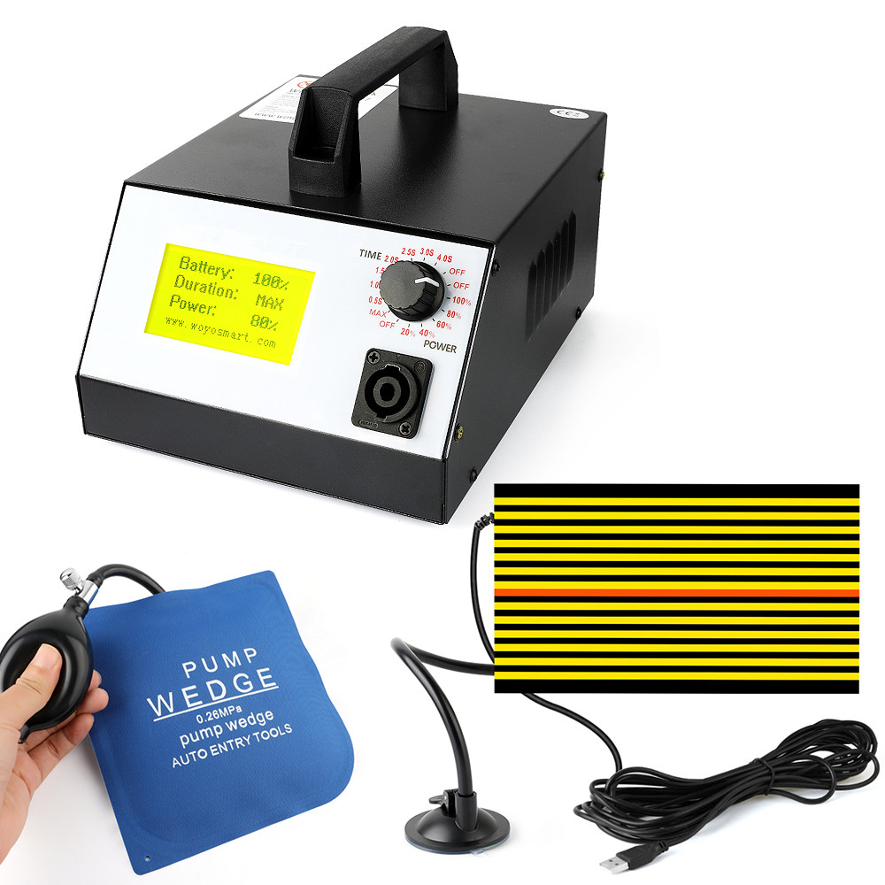 WOYO PDR-007 Hot Box PDR007 With Hand Pump Airbag Led Liht Induction Heater For Removing Dents Sheet Metal Tools Dent Repair 500pcs stud welder draw pin set for removing dents car body sheet metal 2 0mm