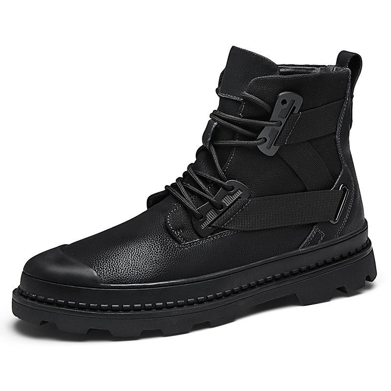Spring Autumn Genuine Leather Boots Men High Top Outdoors Black Dr Martins Men Boots Ankle Cow Leather Doc Martins S