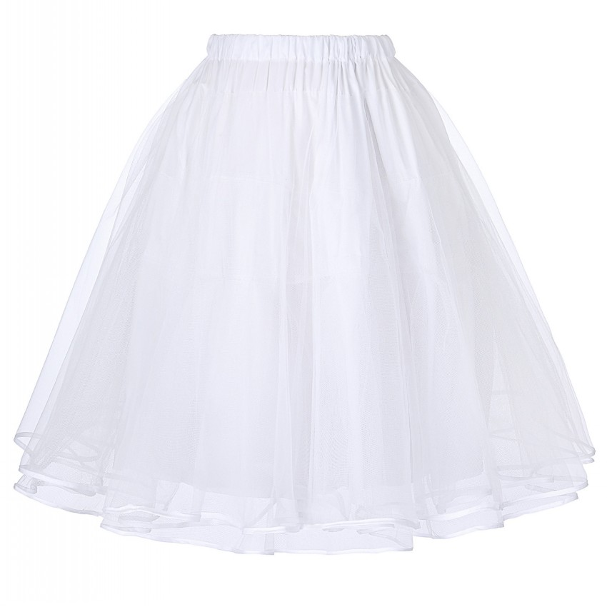 Women 39 s luxury organza skirts vintage 3 layers tulle for Tulle petticoat for wedding dress
