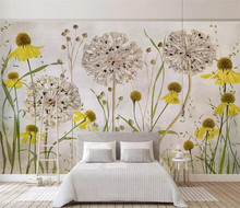 Custom photo wallpaper modern Retro plant Watercolor Hand Painted fashion flowers background wall 3d mural