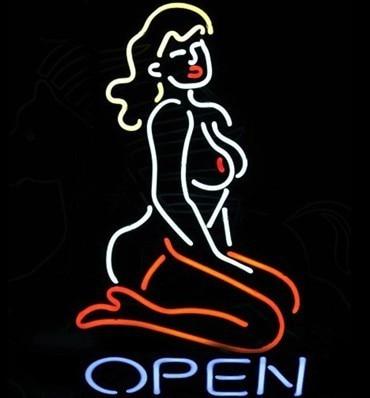 Sexy nude women neon sign open bar supplies art neon lamp can change words 50*40cm