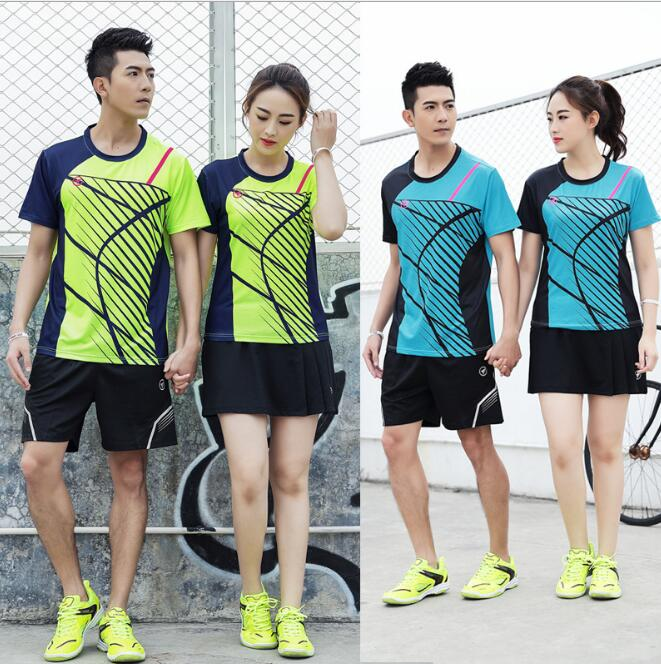 Tennis-Shorts Table-Tennis T-Shirt Badminton Jersey Skirts Quick-Dry Breathable Men Men/women