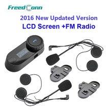 Бесплатная доставка! TCOM-SC W/Экран BT Bluetooth Мотоциклетный Шлем Интерком-Гарнитура с FM Радио + Бесплатный Динамик + кронштейн
