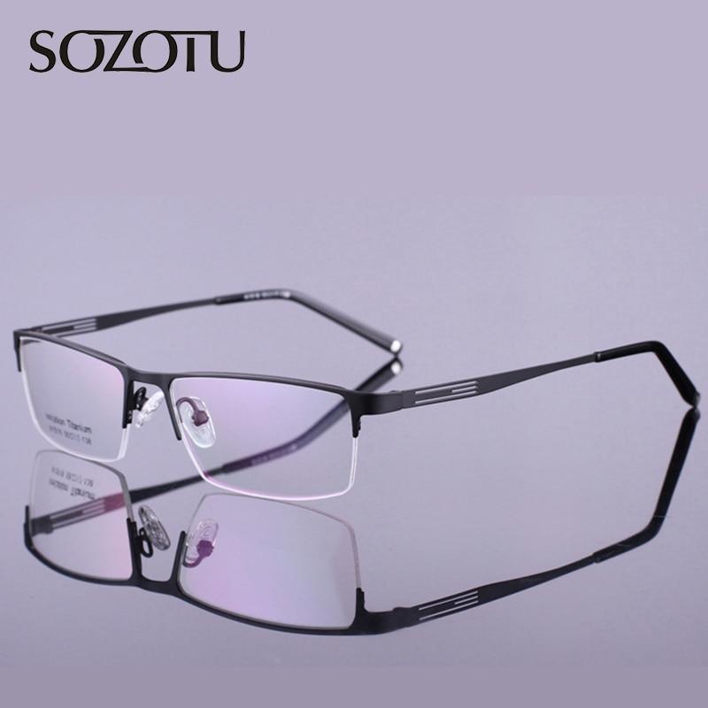 Optische brillen Frame mannen Computer Bril Spektakel Legering Frame voor mannelijke transparante heldere lens Armacao de YQ179