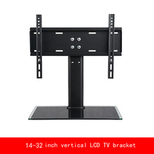 VESA standard 14-32 inch move up or down PC Monitor plasma LCD TV bracket vertical Toughened glass base stent
