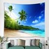 Tenture plage et océan 9 Tapisserie murale avec motif arbre vert ensoleill d coration murale style boh me style Hippie