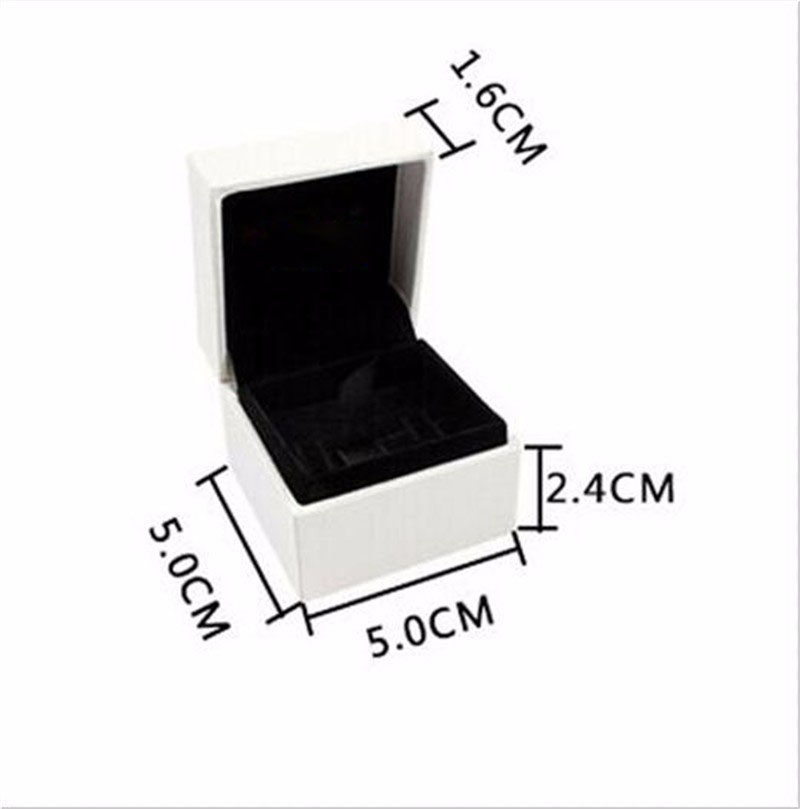 Us 16 99 4pcs Lot 5 5 4 Cm Velvet Charm Jewelry Ring Earrings Black Boxes Gift Display Cases Compatible With Charms Jewelry Wholesale In Jewelry