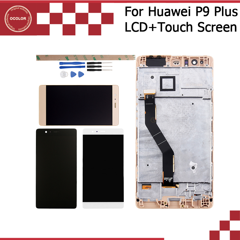 ocolor For Huawei P9 Plus LCD Touch Screen With Frame Assembly Repair Part 5 5 Accessories