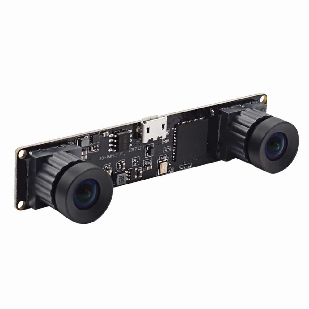 Синхронизированная 960 P HD OV9750 двойная стерео веб-камера с высокой рамкой MJPEG 60fps UVC OTG без искажений объектива мини usb модуль камеры