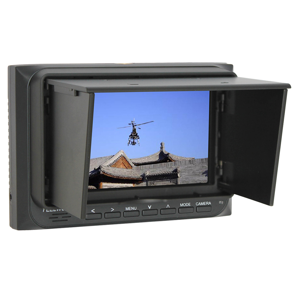 Rc Quadcopter FPV AV Monitor Feelworld 5inch FPV-500A HD 800*480 High Resolution DVR With Sun hood For RC DroneToys 2015 100% brand new trade edition sharp vision 7 inch 800 480 lcd fpv monitor with sunshade for rc quadcopter