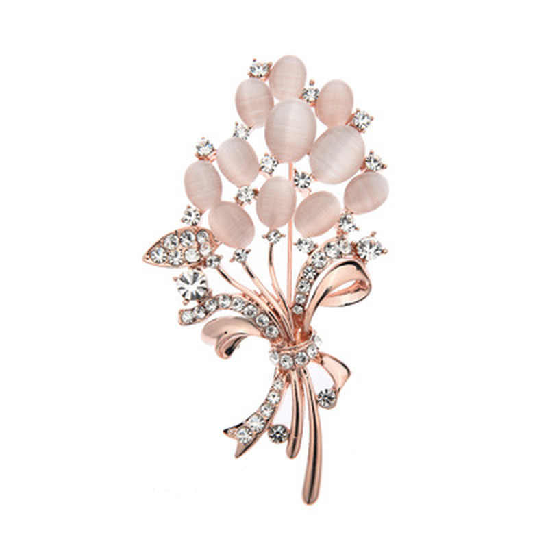 Pickyz Thời Trang Đá Opal Hoa Cài Áo Kèm Áo Quà Tặng Sinh Nhật Thổ Cẩm Nữ Ren Cài Áo