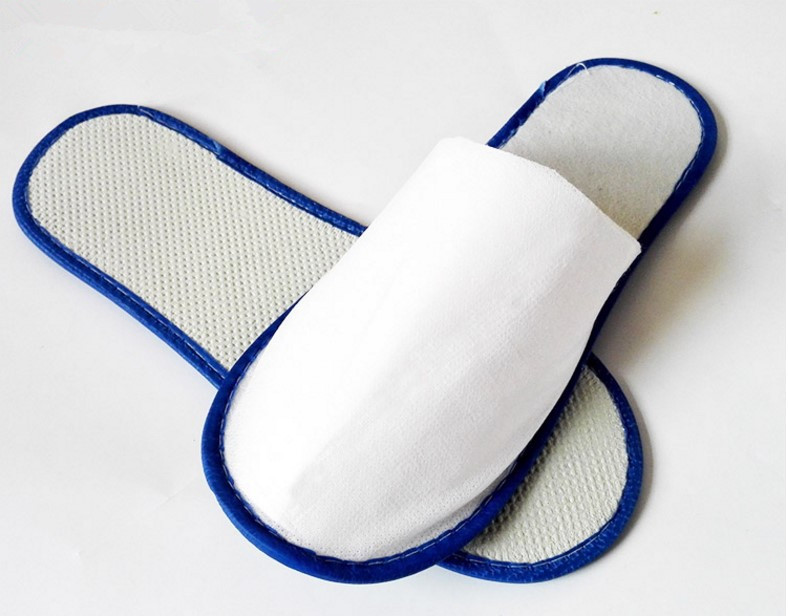 50 pairs of White blue Towelling Hotel Disposable Slippers Terry Spa Guest home Shoes