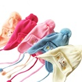 Marca Del Bebé Sombreros de Algodón de Punto Sombreros Del Bebé Para Los Recién Nacidos de Invierno la Aleta del oído del Bebé Sombreros Del Bebé Gorras de Invierno 0 a 3 meses