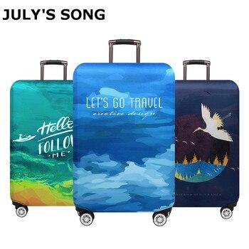 efbda0a6f48f2 JULY'S ŞARKı tekerlekli çanta Bavul tozluk Seyahat Aksesuarları Elastik  bagaj kumaşı Koruyucu Kapak Suitable18-32 Inç