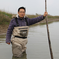 Waterproof Chest Fishing Waders For Men Breathable Rafting Waders With Stocking Foot
