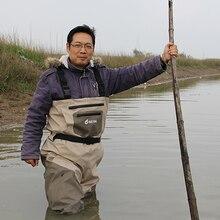 Impermeable Pecho Waders de la Pesca para Los Hombres, transpirable Waders de Rafting con Almacenamiento de Pie
