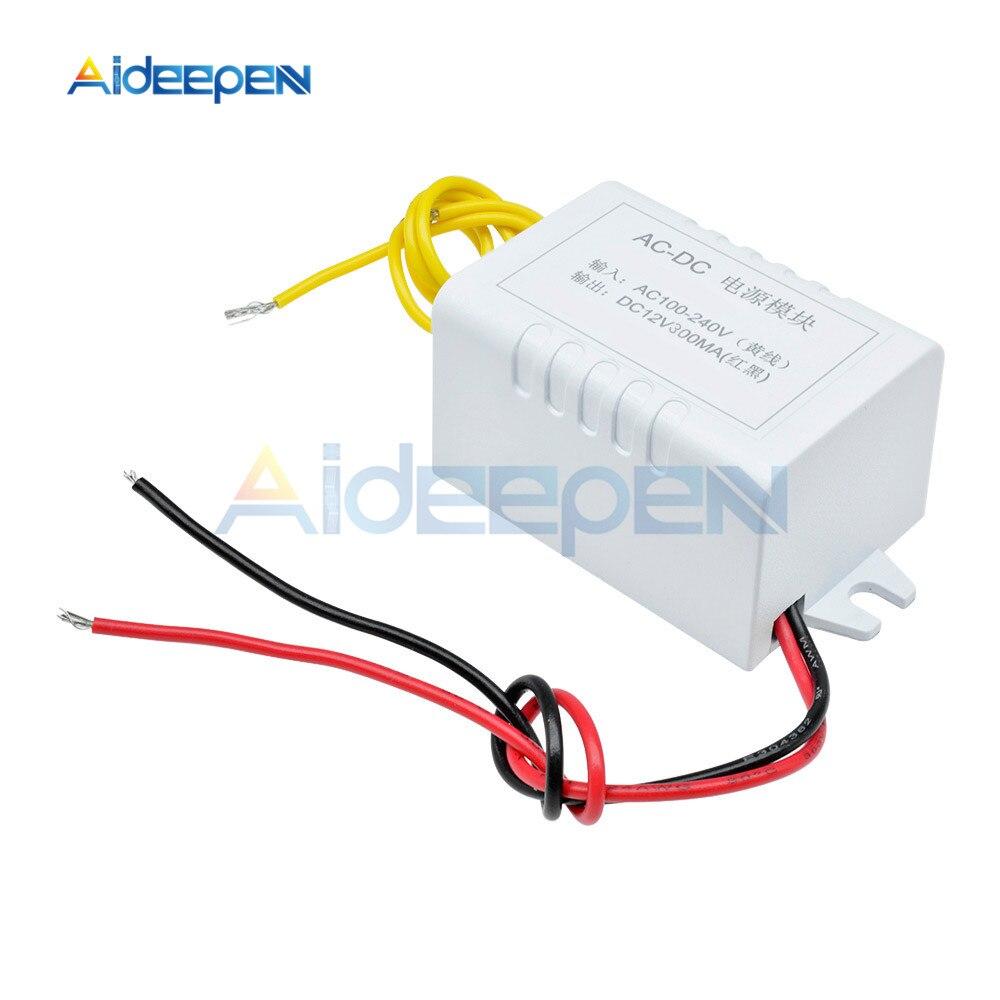 AC 110 В-220 в DC 12 В адаптер конвертер 12 В 1A блок питания DC 300мА для термостата