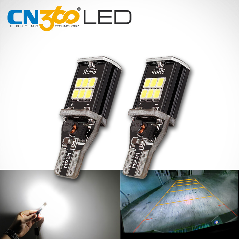 CN360 2 PCS Extremely Bright High Power Canbus SMD2835 912 921 T15 W16W Car LED Back up Reverse Light Bulb 2x t15 w16w led canbus bulb error free 10 led 3020 extremely bright 912 921 car led back up light auto reverse lamp bulb