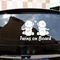 Автомобильный Стикеры наклейки на автомобиль, для близнецов на борту судна в течение автомобильный виниловый Стикеры для автомобилей для у...