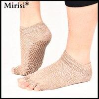 New half toe anti-slip high end pilates toe socks women five finger socks