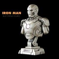 Pandadomik Novelty Resin Iron Man Bust Statue Toy Figure Model Resina Avengers figurine Cool Gift for Man Boys Marvel Toys Decor