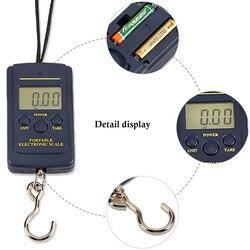 Digital de Bolso Acessível 1 pc Eletrônico Hanging Pesca Bagagem Escala Gancho Peso Balanca Portátil Mini 40 kg/10g