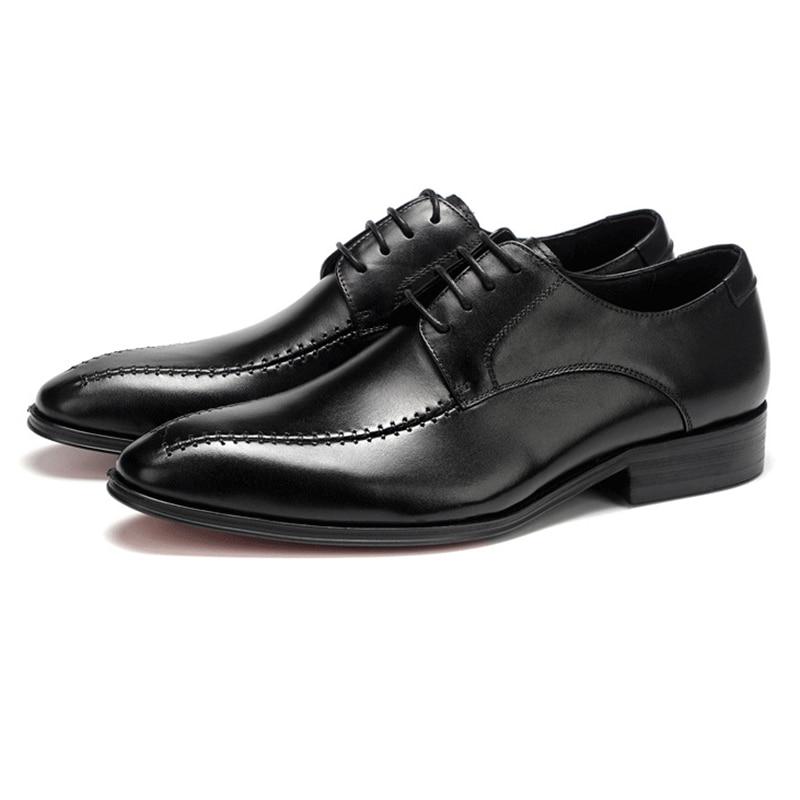 Sapatos Homens De Casamento Lace O orange Black Sapatas Couro Black Derby Formais Grimentin Negócios Genuíno Italianos Para Brown Up 2018 Vestido 5rTzwO5xq